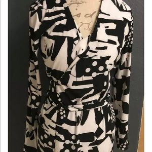 Armani exchange silk wrap dress size 4